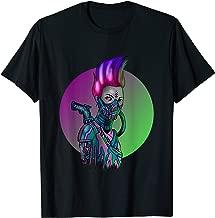Cyberpunk Cyborg Girl Sexy Cyber Cool Robot Mask Gift Idea T-Shirt