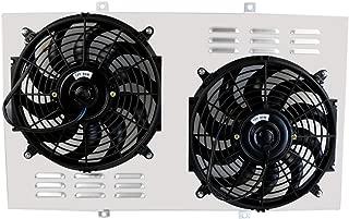 ALLOYWORKS Aluminum Fan and Shroud Kit for Radiator for Chevy C/K C10/C20/K10/K20 Pickup Truck (Radiator Not Included)