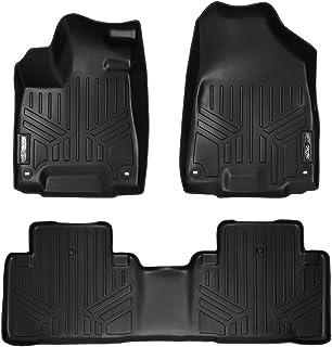 SMARTLINER Custom Fit Floor Mats 2 Row Liner Set Black for 2014-2019 Acura MDX (No Hybrid Models)