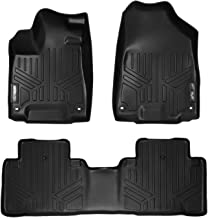 SMARTLINER Custom Fit Floor Mats 2 Row Liner Set Black for 2014-2019 Acura MDX (No Hybrid Models)