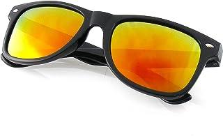 fa75dd99c3 Emblem Eyewear® - Negro Flash Espejo Polarizados Llanta Cuernos Gafas De Sol