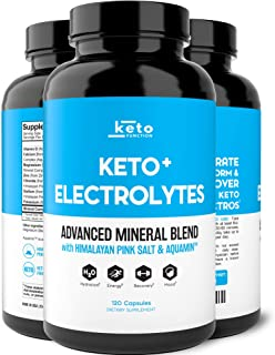 Keto Electrolyte Supplement - Electrolytes and Trace Minerals for Low-Carb Keto Diet - Leg Cramp Relief, Hydration, Energy...