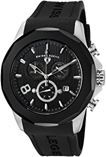 Swiss Legend Men's SL-10042-01-BB Monte Carlo Black Silicone Watch