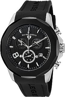 Swiss Legend Men's SL-10042-01-BB Monte Carlo Black Silicone Watch