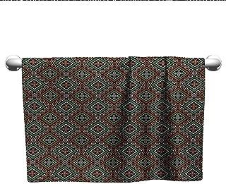 Bensonsve Premium Tribal,Boho Style Pattern with Geometric Aztec Ornament Modern and Ethnic Folkloric Design,Multicolor,Towel bar for Glass Shower Door