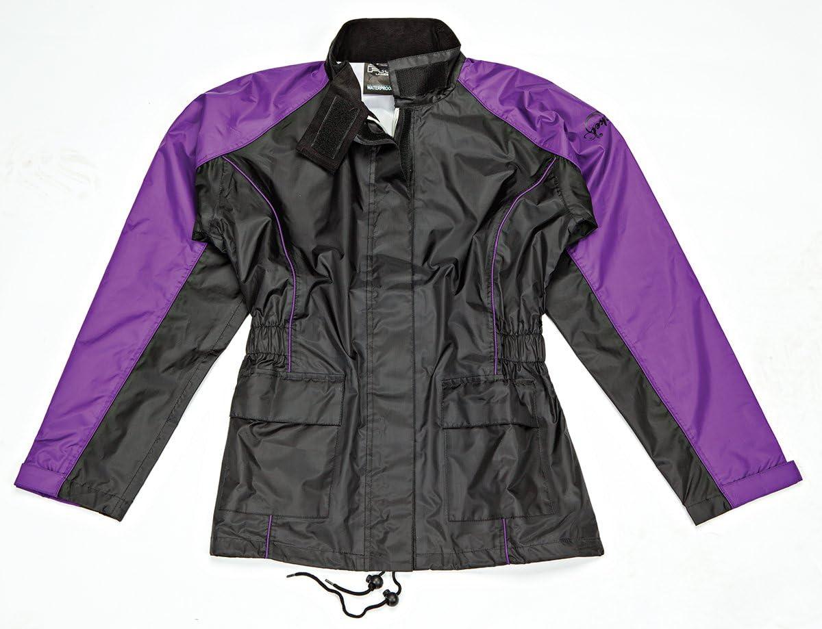 1012-2004 Joe Rocket RS2 Womens 2-Piece Motorcycle Rain Suit Black//Black, Large