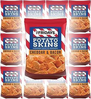 TGI Fridays Potato Skins Snacks, Cheddar & Bacon, 1oz Bag (Pack of 12, Total of 12 Oz)