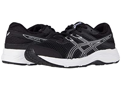ASICS Kids GEL-Contend 6 (Little Kid/Big Kid) (Black/White) Boy