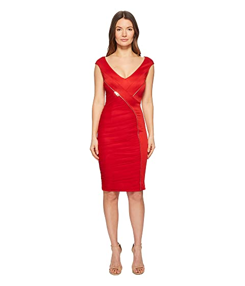 Versace Collection Abito Donna Asymmetrical Zip Sheath Dress