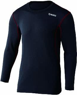 おたふく手袋 ボディータフネス デュアルメッシュ ロングスリーブ クルーネックシャツ JW-602 51.ブラック×レッド M