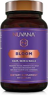 Sponsored Ad - Bloom for Healthy Hair, Skin & Nails | 5000mcg Biotin, MSM, Hyaluronic Acid, B Complex Vitamins | Vegan, No...
