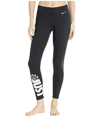 Nike Icon Clash Speed Tights 7/8 (Black/White/Reflective Silver) Women