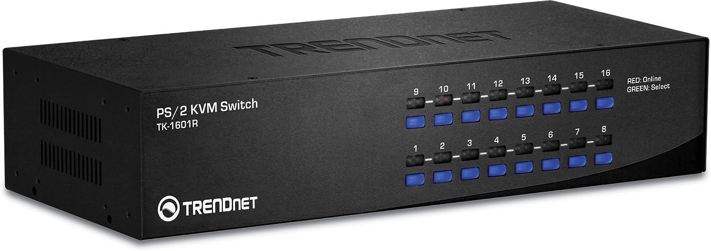 TRENDnet 16-Port 70% OFF Outlet PS2 Rack Switch TK-1601R Ranking TOP2 Mount KVM