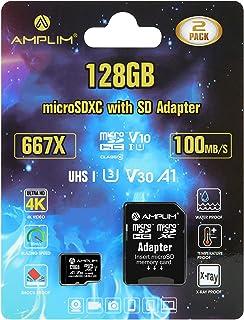 2 4 Pack 64GB Micro SD Memory Card Plus Adapter (Class 10 U3 UHS-I V30 A1 MicroSD Extreme Pro) DuraData 2X 4X MicroSD Card...