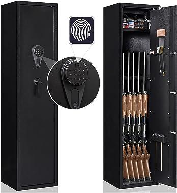 Karini Biometric Gun Safe,Gun Safes for Rifles and Shotguns,Firearms Safe with Fingerprint Reader and Alarm System,Contains S