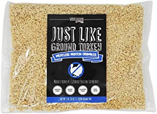 Meatless Ground Meat, Vegan Meat Substitute, Plant-Based, 100% Hexane Free, Made with #1 Graded Yellow Soybeans, Made in U...