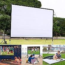 wumedy HD Projector Screen,Portable Folding Anti-Crease Indoor Outdoor Projector Movies Screen for Home,Screen Size 60inch,72inch,84inch,92inch Projection Screens