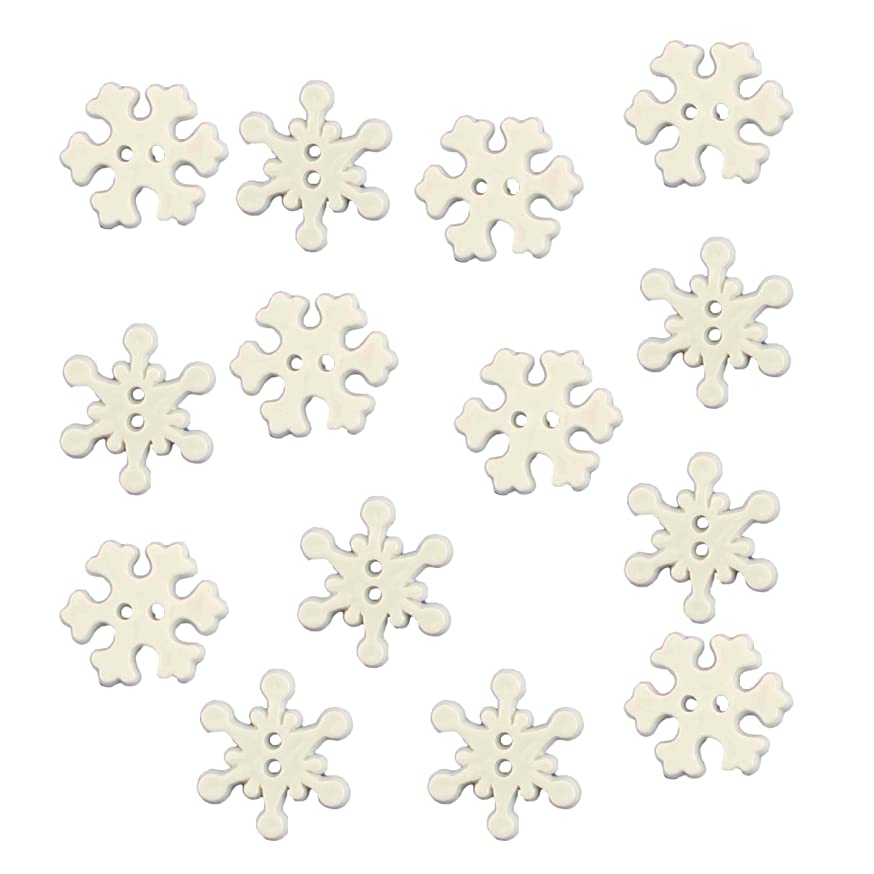 Buttons Galore BG4748 Assorted Holiday Collection Snowflakes Buttons