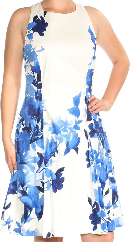 Lauren by Ralph Lauren Women's Floral Sateen Flare Dress