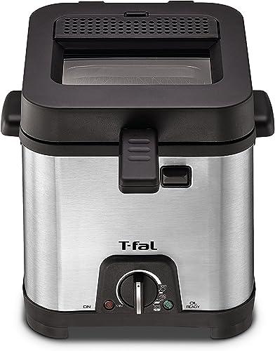 T-fal-FF492D-Stainless-Steel-1.2-Liter-Oil-Capacity-Adjustable-Temperature-Mini-Deep-Fryer