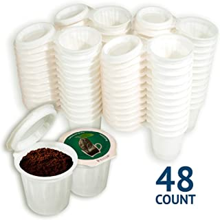 iFillCup pre-assembled Single Serve, fill your own Pods. Green Label. 100% recyclable for use in all k cup brewers including 1.0 & 2.0 Keurig. 48 iFill Cup airtight seal in freshness pods. (Green)