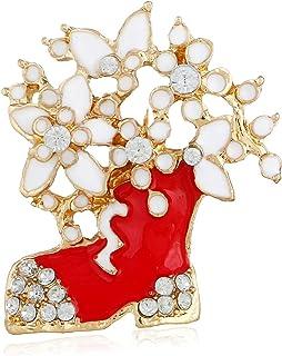 Europa e Stati Uniti Stivali di Natale Diamante Diamond Spilla Tridimensionale Cartoon Spillotto in Lega squisita Brooch C...