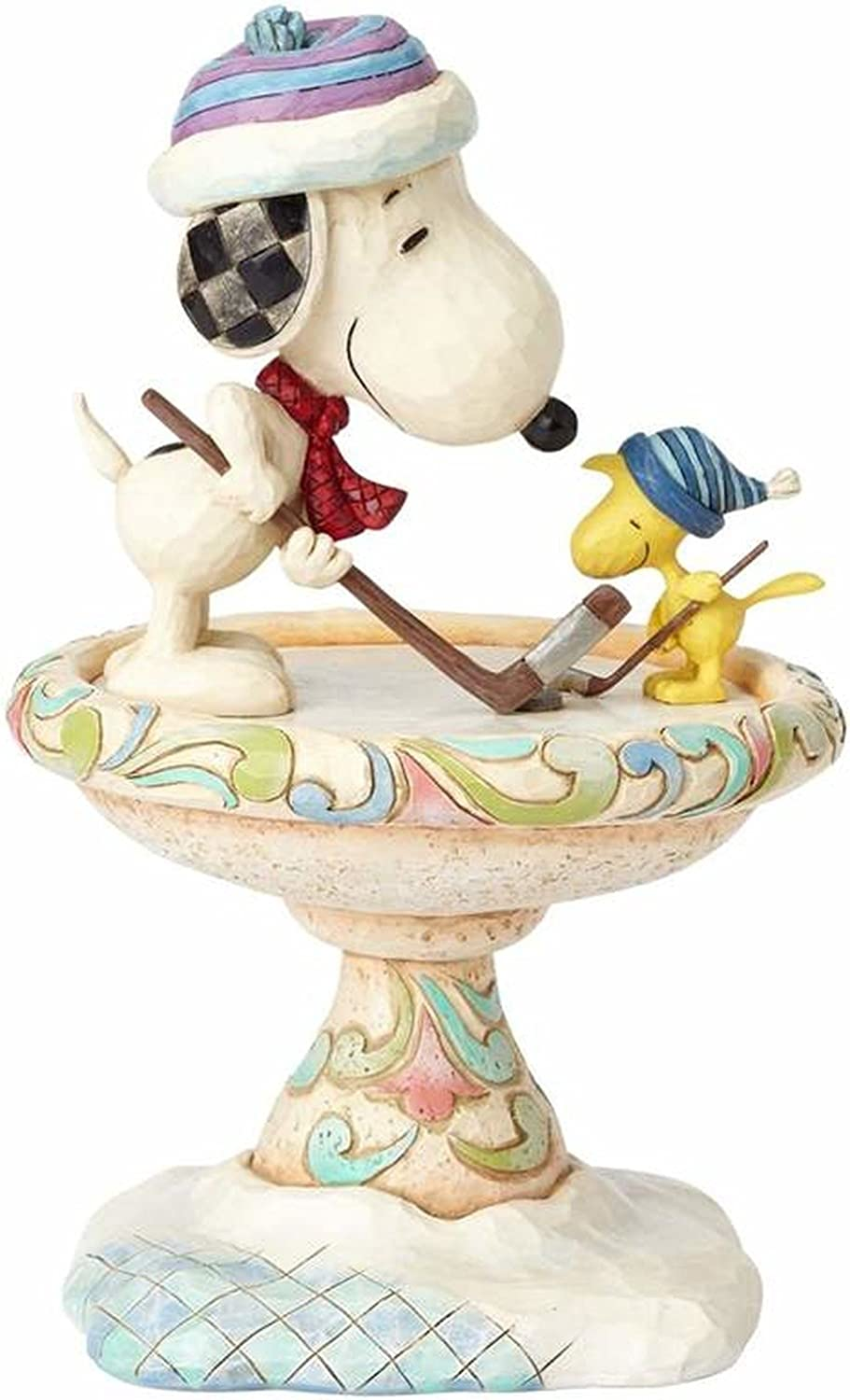 "Enesco Peanuts by Jim Shore Snoopy and Woodstock, 8"" Stone Resin Figurine, 8 , Multicolor"