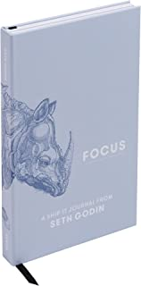 MOO x Seth Godin - Focus: A ShipIt Guided Journal Workbook - Writing Prompt Notebook & Idea Book for Productivity and Creativity