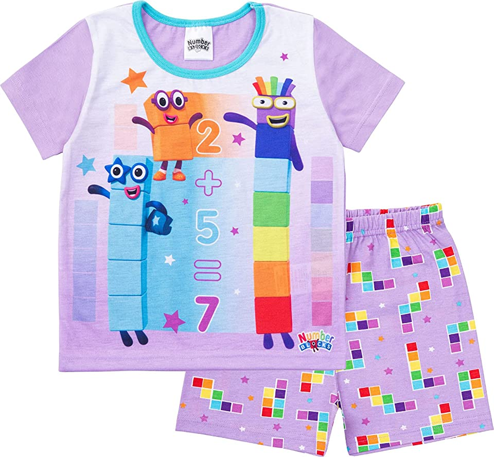 Girls Short Pyjamas Pjs Ages 3 to 7 Years Old