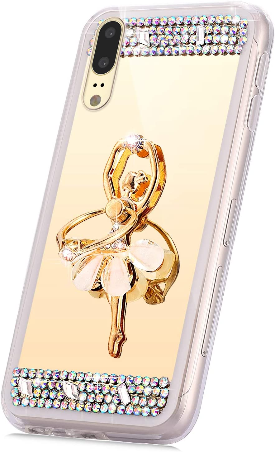PHEZEN Case for Huawei P20 Girl All stores are sold Bling Glitter ...