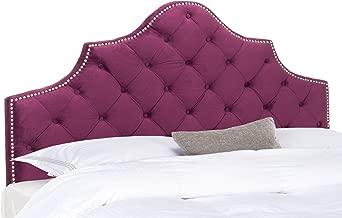 Safavieh Mercer Collection Arebelle Aubergine Velvet Headboard, Queen, Purple