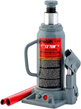 Pro-Lift B-012D Grey Hydraulic Bottle Jack – 12 Ton Capacity