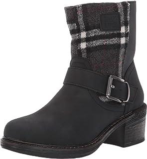 Muk Luks Women's Lois Boots Fashion, Black, 6 M US