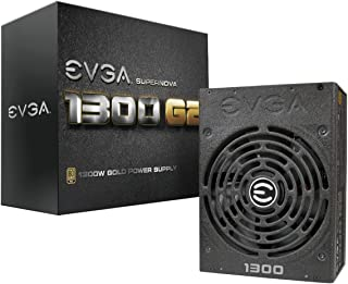 EVGA SuperNOVA 1300 G2 80+ GOLD, 1300W Fully Modular NVIDIA SLI and Crossfire Ready 10 Year Warranty Power Supply 120-G2-1300-XR
