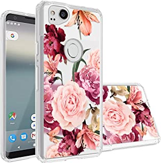 Google Pixel 2 Case,Topnow [Anti-Scratch PC + Shockproof Anti-Drop Soft TPU] Advanced Printing Pattern Phone Cases Glossy Drawing Design Cover for Google Pixel 2(Roses Cluster)