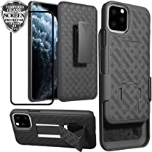 Ailiber iPhone 11 Pro Case with Screen Protector, iPhone11 Pro Belt Clip Holster, Kickstand Holder Rugged Full Body Shockproof Armor Combo Slim Protective Cover for Apple iPhone 11Pro 5.8inch - Black