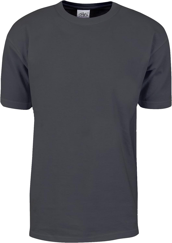 Fitscloth Men's Cotton T Shirt – Max Heavyweight 7 Ounce Short Sleeve Crew Neck Plain Tee Top Tshirts Regular Big Tall Size