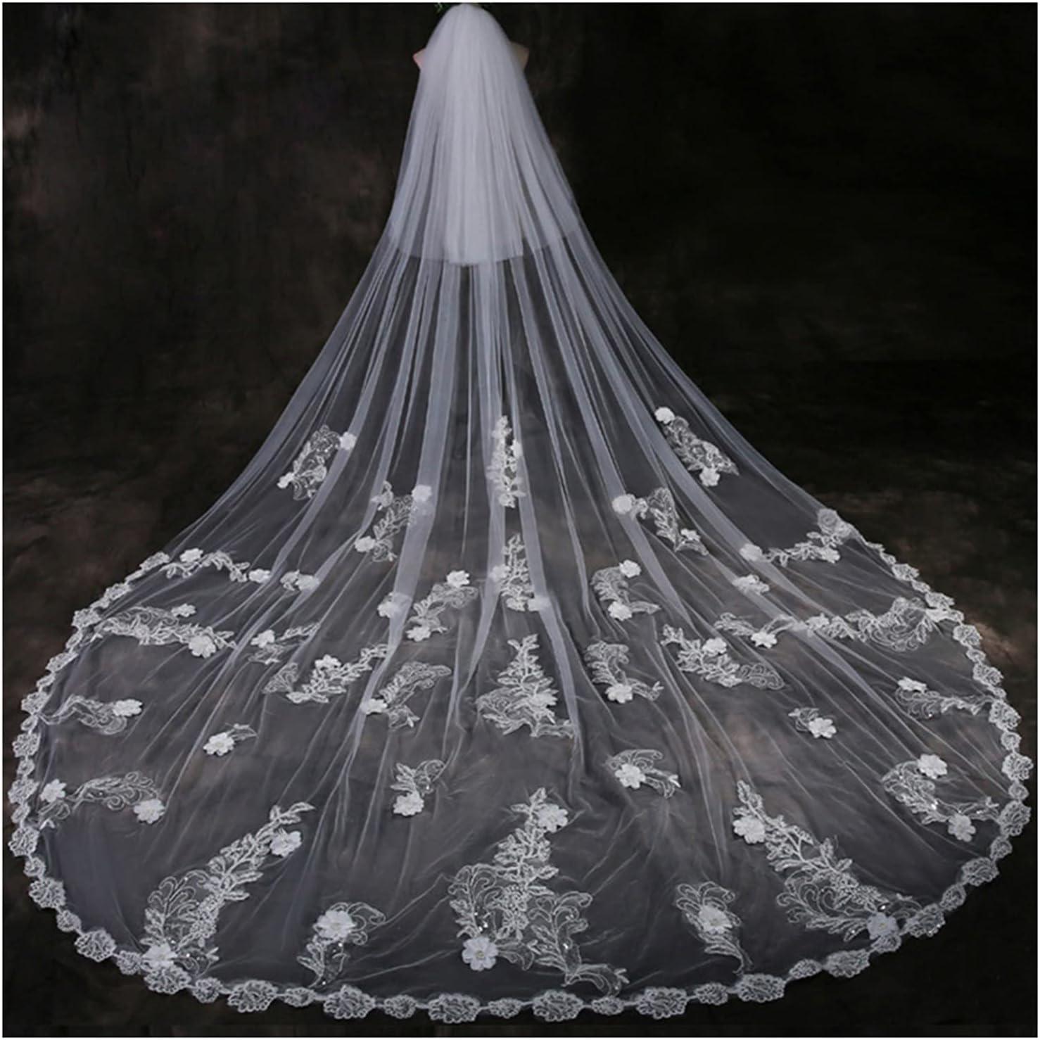 HEMOTONE Bridal Veil Applique Wedding Lace 5 ☆ popular Industry No. 1 Long Weddin Side