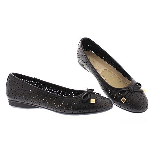 41bf105a36b Gold Toe Women s Ambrosia Perforated Ballet Flat Mini Wedge