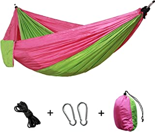 Portable Camping Hammock Nylon Double Hammock Outdoor Furniture Hanging Chair Indoor Garden Swing Chair Hunting Leisure Bed Gift,B