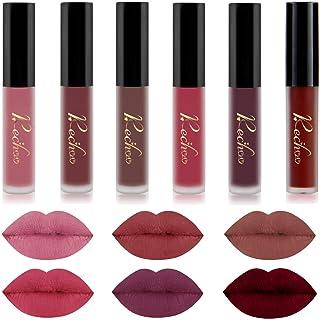 Matte Liquid Lipstick Set 6 Pcs Superstay Mate Ink Waterproof Lip Gloss Beauty Lips Makeup Set (6 PCS NUDE)