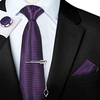 JEMYGINS Corbata suave de microfibra para hombre en lana y pa/ñuelo de bolsillo