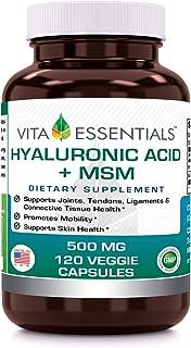Vita Essentials Hyaluronic Acid Plus Msm 500 Mg Veggie Capsules, 120 Count