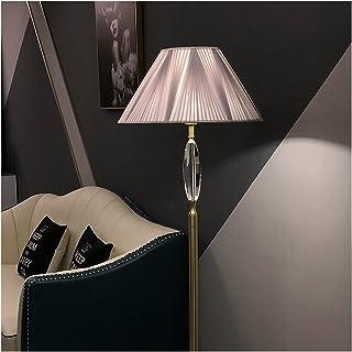 -Lampe de solon Lampadaire, abat-jour en tissu, source de lumière LED, moderne et simple, adapté à la chambre à coucher Sa...