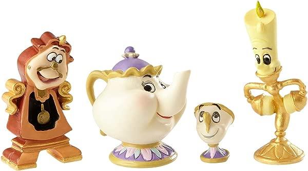 Enesco Disney Showcase Beauty And The Beast Figurine Set Multicolor