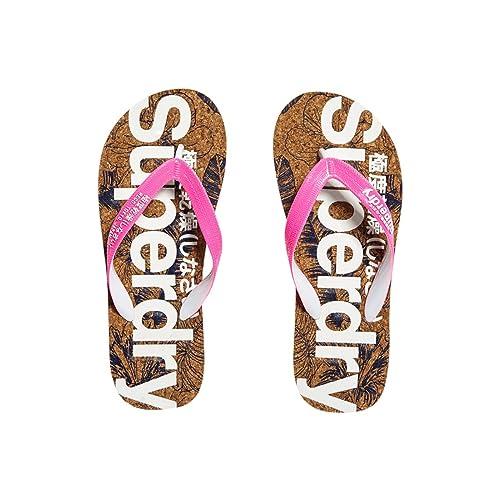 2af3d5452877 Superdry Women s Printed Cork Flip Flop