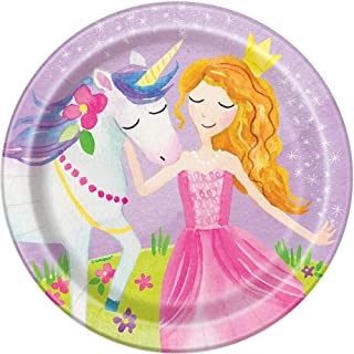 Magical Princess Paper Cake Plates, 8ct