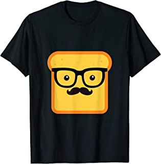 Hipster Loaf Of Bread Cartoon & Trendy Chef Gift T-Shirt