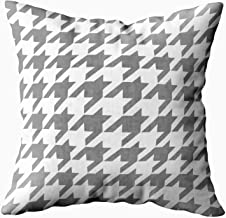 Musesh classic houndstooth pattern in grey and white Cushions Case Throw Pillow Cover For Sofa Home Decorative Pillowslip Gift Ideas Household Pillowcase Zippered Pillow Covers 18X18Inch