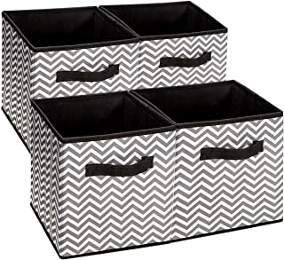 Depory Storage Basket with Arrow Printing and Text lalala love you Fabric Gray 20 16cm 16